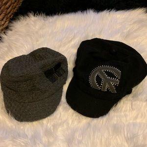 Accessories - Black & gray hats